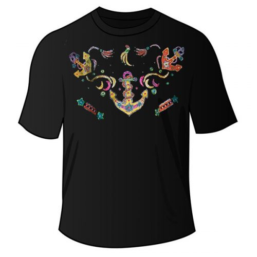 Black Anchor T Shirt
