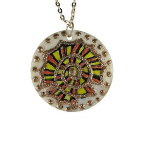 Pendant Round Gold Escargot