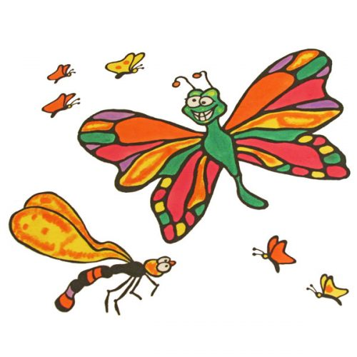 Butterfly Sky Pillowcase Painting Kit