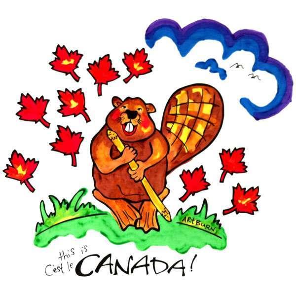 Canada Beaver Pillowcase Painting Kit