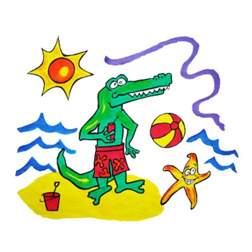 Crocodile Pillowcase Painting Kit