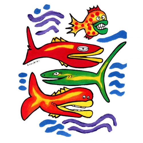Fish Posse Pillowcase Painting Kit