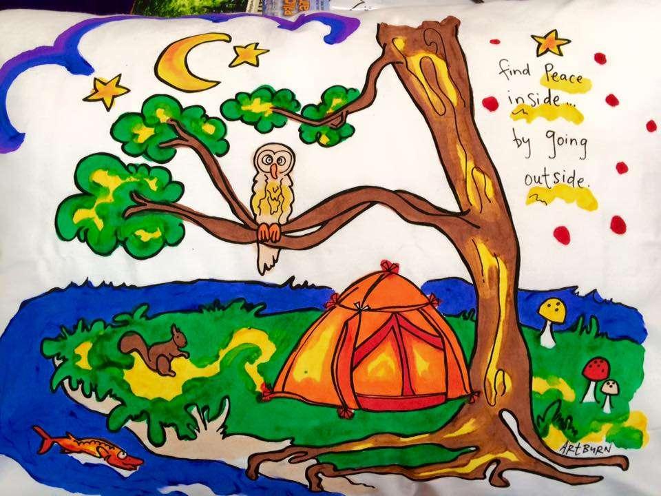 Peaceful Camping Pillowcase