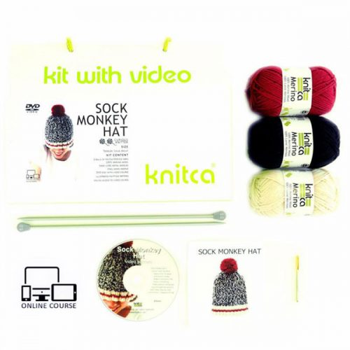 Sock Monkey Hat Kit