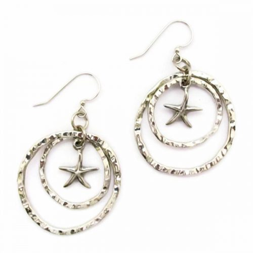 Sea Star Double Hoop Earrings