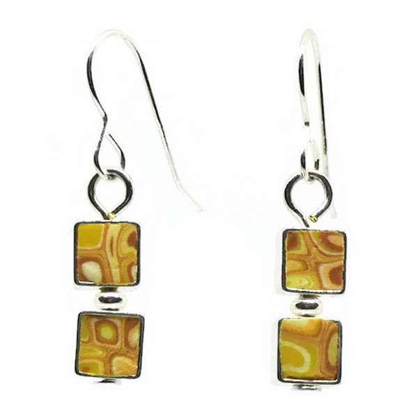Mosaic Lemon Earrings