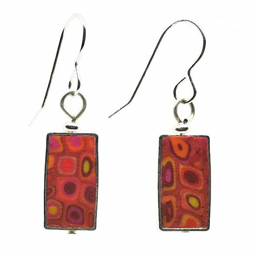 Rectangular Mosaic Earrings