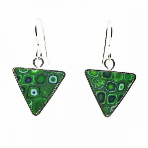 Emerald Green Mosaic Earrings