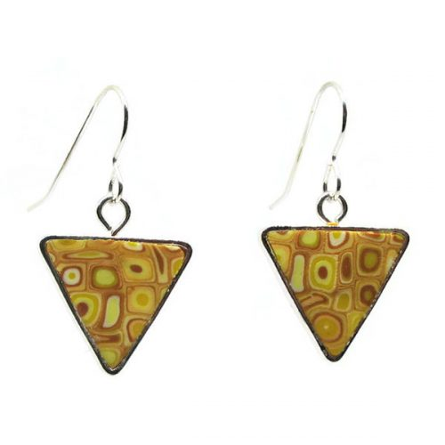 Yellow Mosaic Earrings