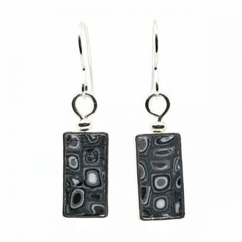 Black Mosaic Earrings