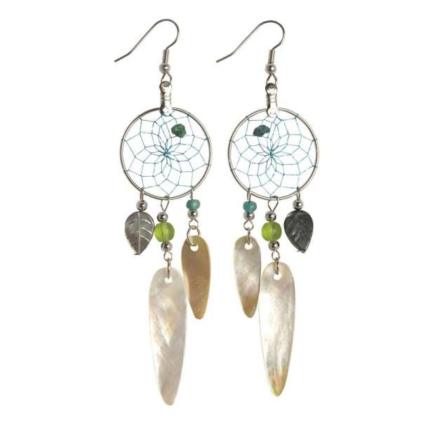Dream Catcher Mother of Pearl Earrings