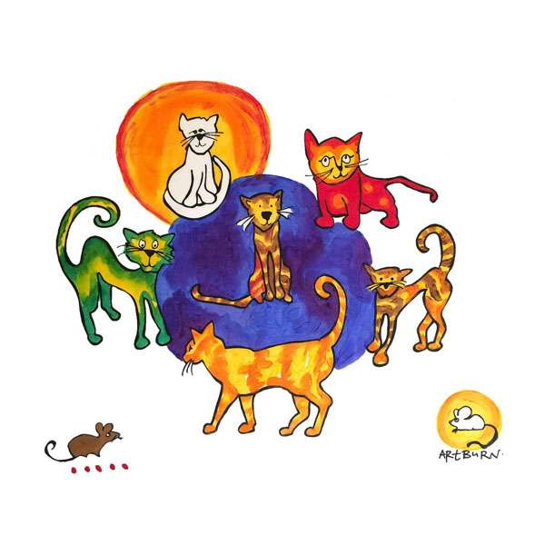 Cats Pillowcase Painting Kit