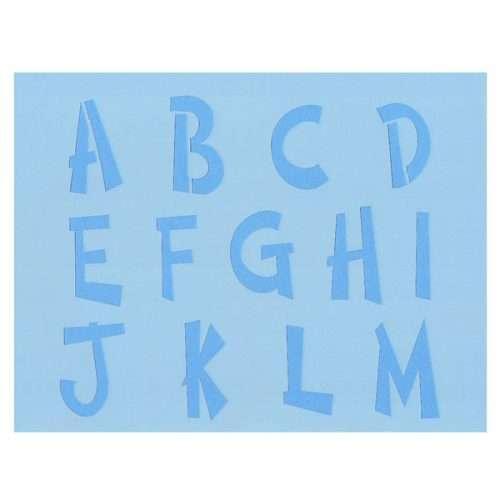 Cosmic Alphabet Stencil A-M