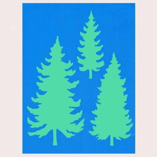Pine Tree Stencil