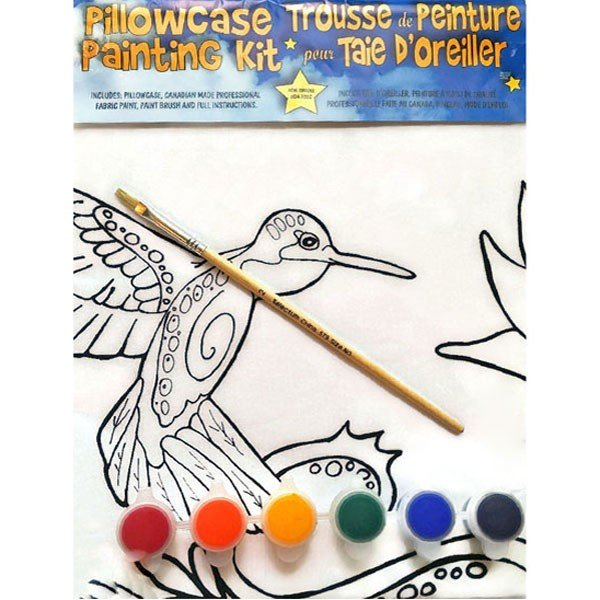 Hummingbird Pillowcase Painting Kit