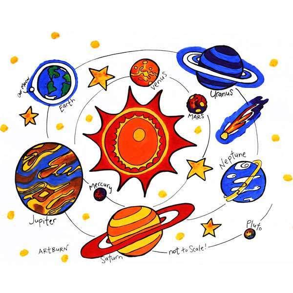 Our Solar System Pillowcase