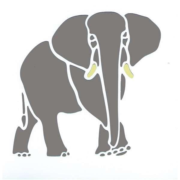 African Elephant Stencil