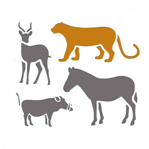 Wild Animals Stencil