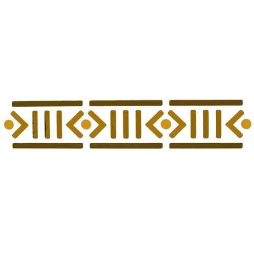 African Border Stencil