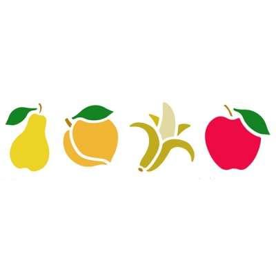 Fruit Border Stencil