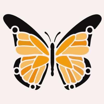 Multi-Coloured Butterfly Stencil
