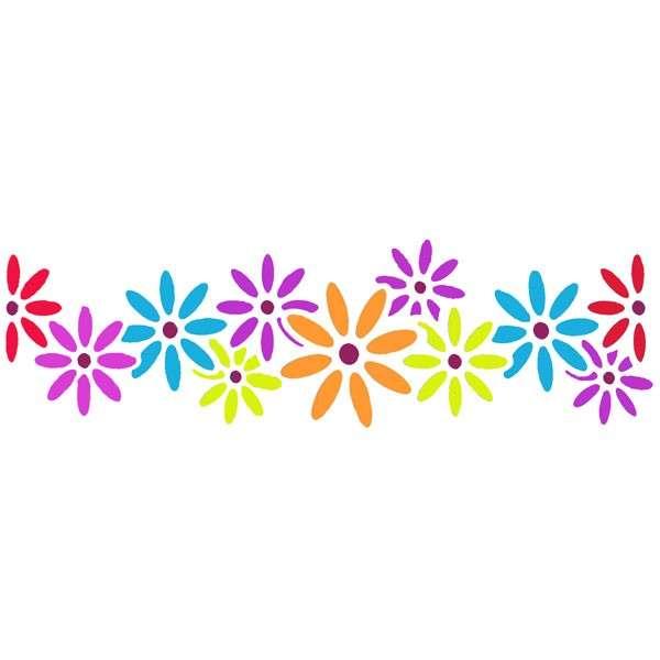 Cosmos Flower Stencil