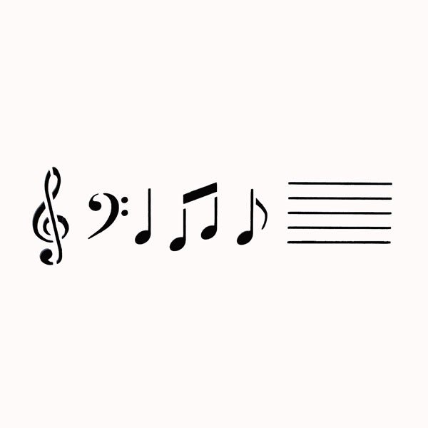 Music Notes Stencil