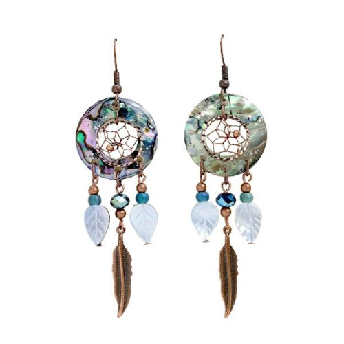 Copper Dream Catcher Earrings