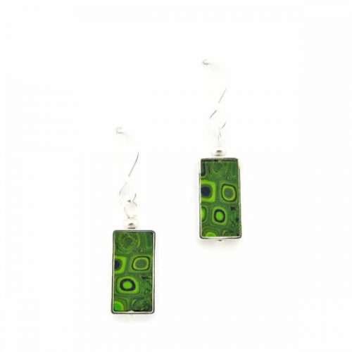 Green Mosaic Earrings
