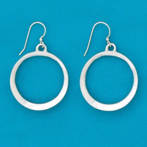Indent Hoop Earrings