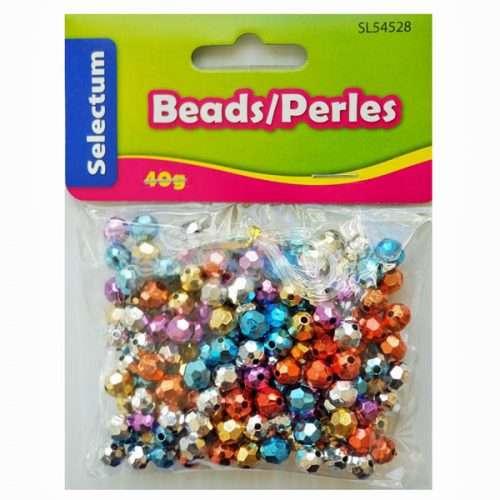 Round Metallic Coloured Beads