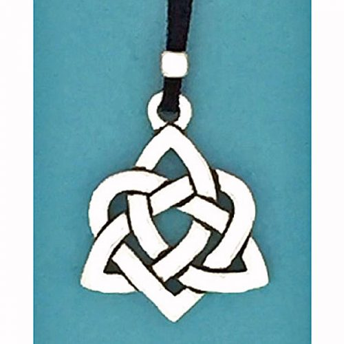 Celtic Heart Pewter Pendant