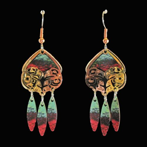 Native Eagle Cut-Out Earrings