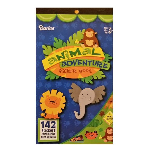 Animal Adventure Kids Sticker Book