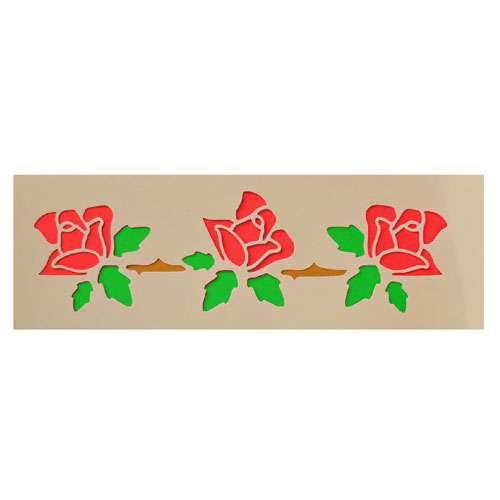 Rose-Chain-Stencil