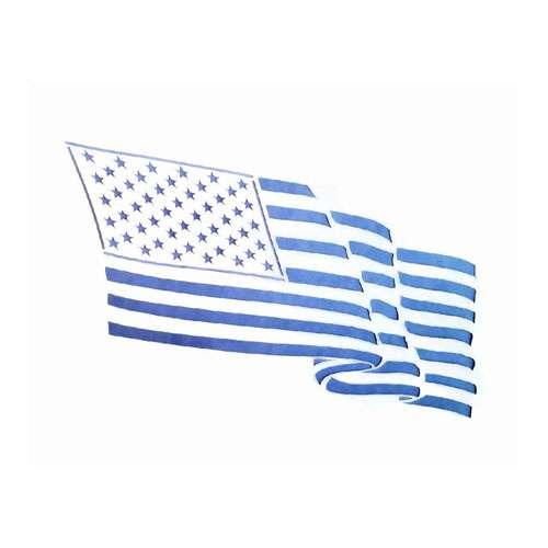 USA Flag Stencil