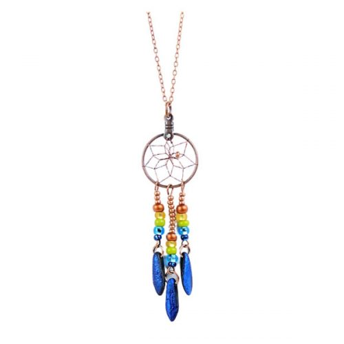 Dream Catcher Necklace - Multi Coloured Bead