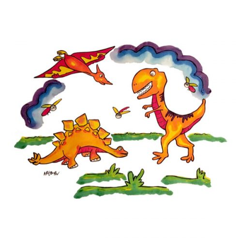 Artburn Dinosaur Pillowcase Painting Kit