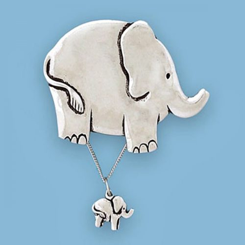 Elephant Wish Box with Necklace