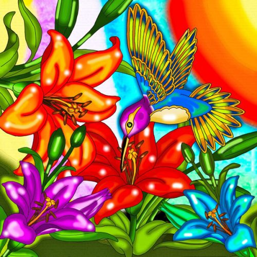 Hummingbird Diamonds Painting Kit