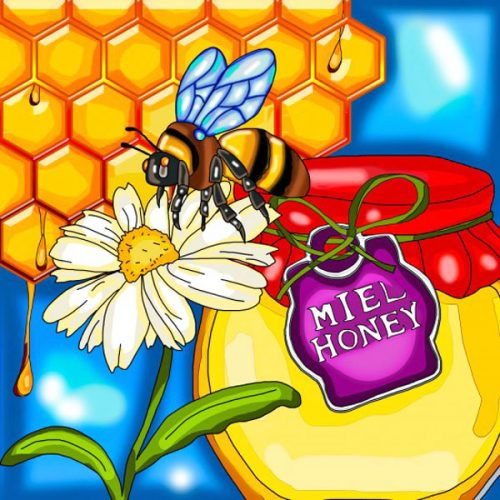 Honey Bee Diamond Painting Design