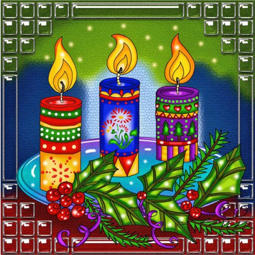 Candles Design Jacarou Diamond Painting Kit