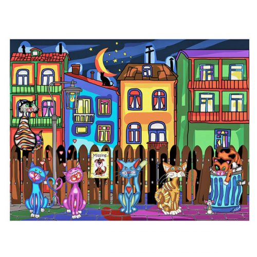 Jacarou Cats Night Out Puzzle