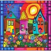 Houses Design Diamonds Painting Kit