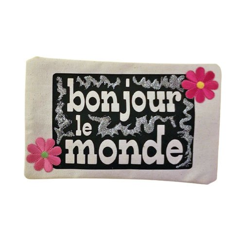 bonjour le monde make-up pouch