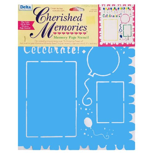 Cherished Memories Celebration Stencil