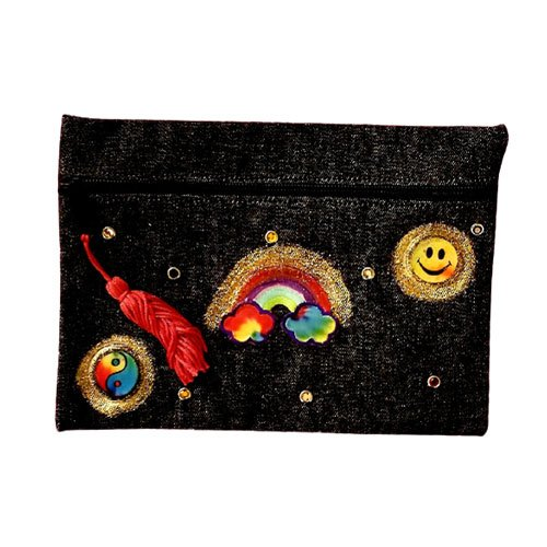Denim Rainbow Cosmetic Bag