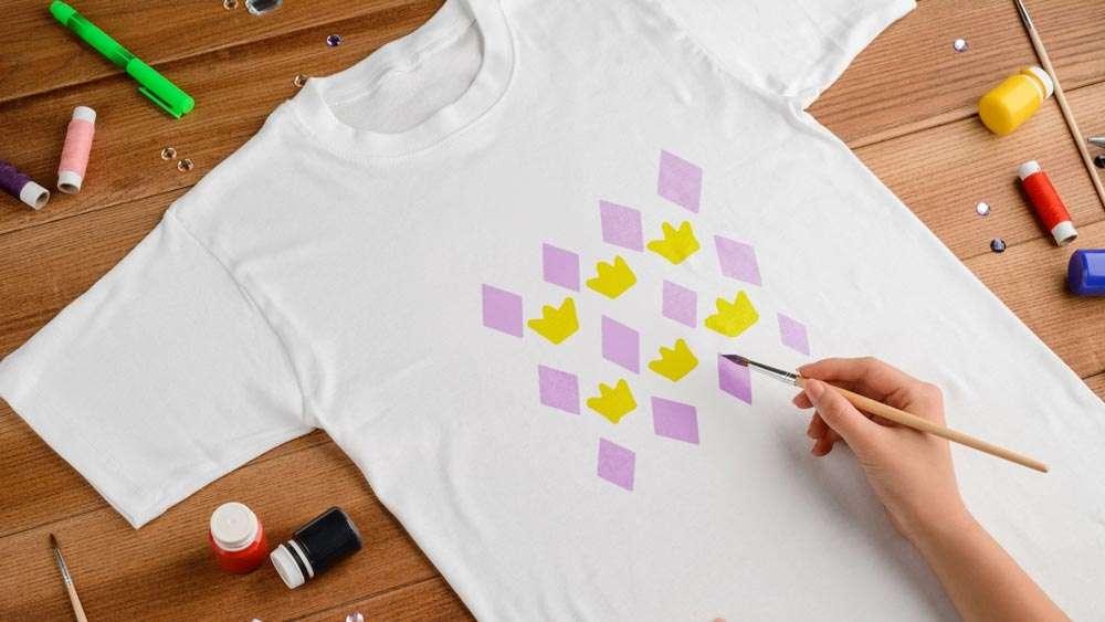 Stencilled T Shirt
